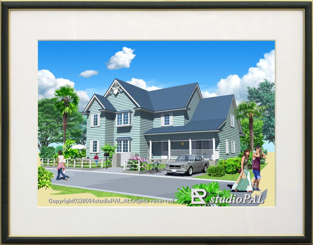 絵画的パース 住宅