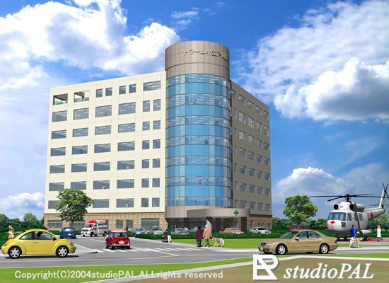 外観パース 総合病院