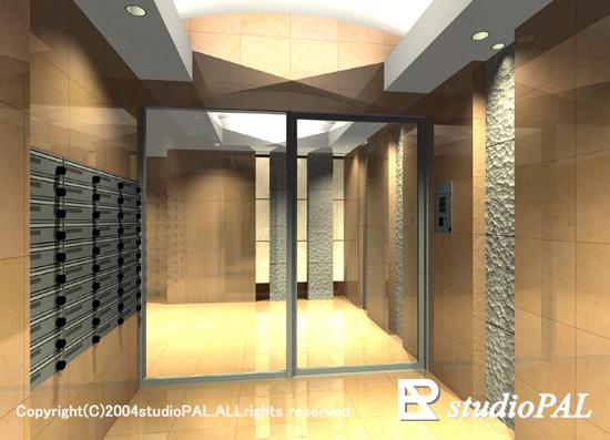 室内パース マンション玄関