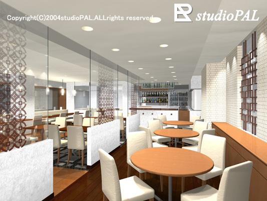 室内パース レストラン