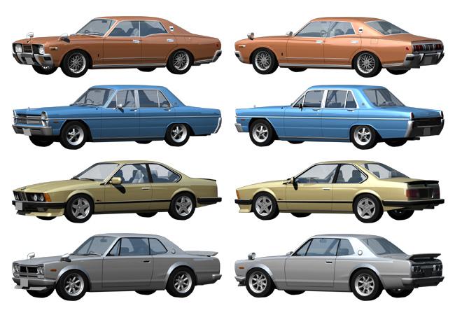 旧型車のモデリング画像