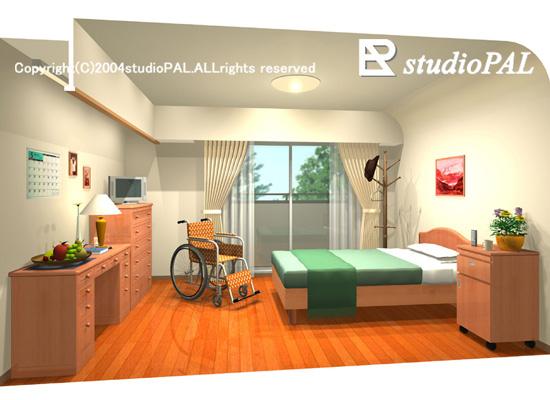 特別養護老人ホーム、室内パース